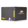 1.5 INCH ROUND RING CHARCOAL BINDER WITH MICHIGAN TECH LOGO