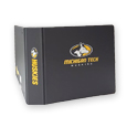 2 INCH D-RING CHARCOAL BINDER WITH MICHIGAN TECH LOGO
