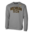 #06KK NIKE CREW WITH MICHIGAN OVER TECH