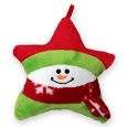 #42U PLUSH SNOWMAN ORNAMENT GIFT CARD HOLDER
