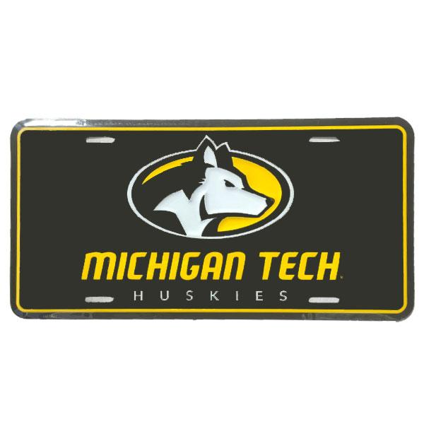 Michigan Technological University: #40ii Michigan Tech Logo License Plate