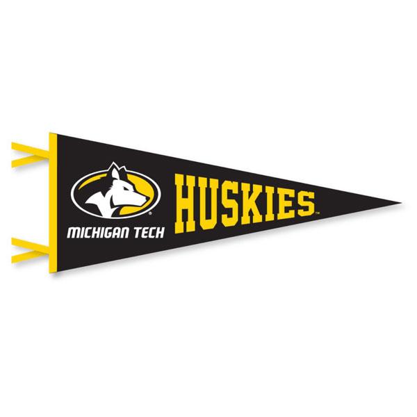 "Michigan Technological University: #42q Michigan Tech Huskies 12"" X 30"" Pennant"