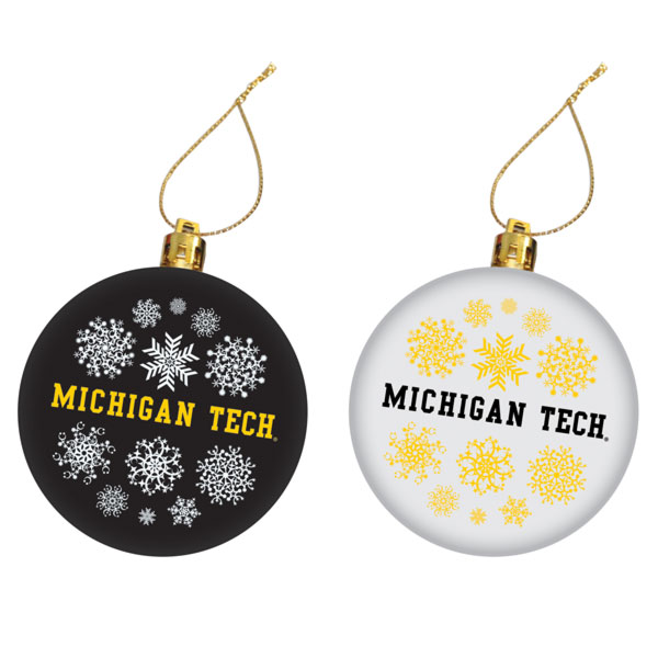 #42Pp Michigan Tech Christmas Ornament Set