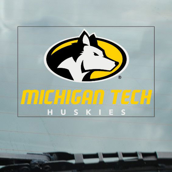 Michigan Technological University: #43dd Inside Application Static Cling Decal