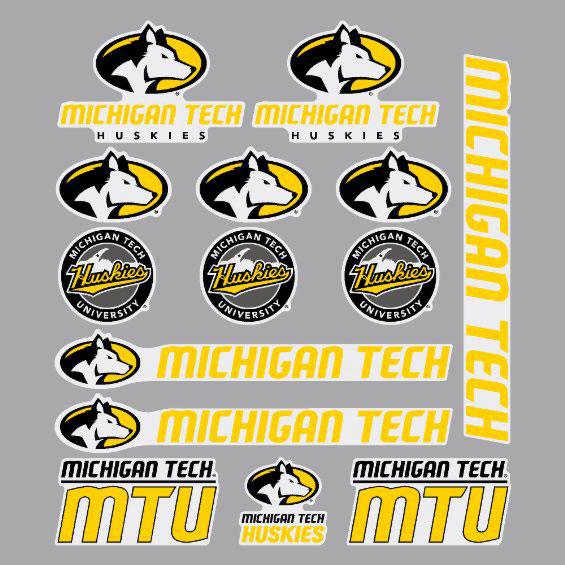 Michigan Technological University: #43nn Michigan Tech Logo Sticker Sheet