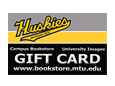 Script Huskies Logo On A Gift Card